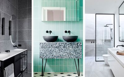 Black and white: la tendencia para baños de este 2019
