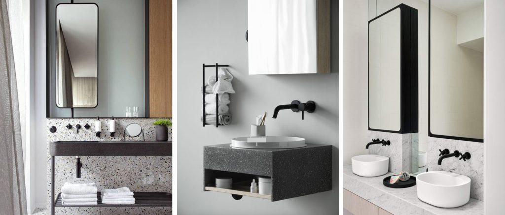 black and white tendencia baños 2019