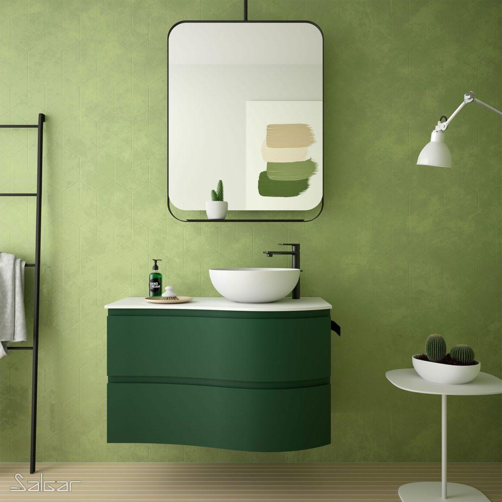 Muebles de baño curvos