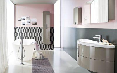 Muebles de baño curvos: personalidad y sofisticación