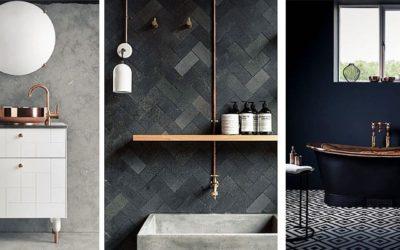 7 ideas para incorporar cobre en el baño